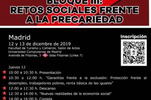 Curso de formación, Bloque III: Retos sociales frente a la precariedad