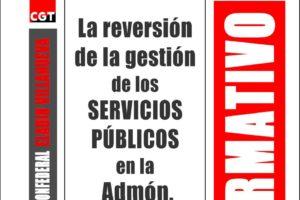 Boletín 155: La revisión de la gestión de los Servicios Públicos en la Administración Pública