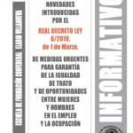 Boletín 160: Real Decreto Ley 6/2019, del 1 de marzo