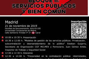 Jornada formativa: Servicios Públicos y bien común: La precarización del Sector Público