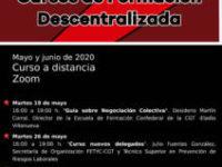 Cursos de Formación Descentralizada mayo – junio 2020