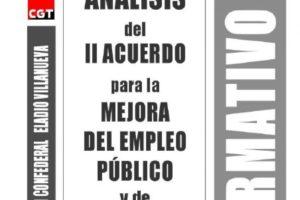 Boletín 157: Análisis del II acuerdo para la mejora del empleo público y de condiciones de trabajo de 09.03.2018