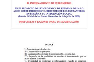 El internamiento de extranjeros en el proyecto de Ley Orgánica de Reforma de la LO 4/2000, sobre derechos y libertades de los extranjeros en España y su integración social