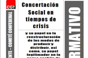 Boletín 125: Septiembre de 2009 La concertación social en tiempos de crisis