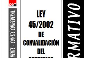 Boletín 81: Ley 45/2002 de convalidación del 'decretazo'