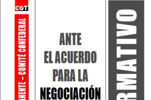 Boletín 83: Ante el Acuerdo para la Negociación Colectiva