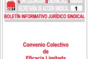 Boletín 1: Convenio Colectivo de eficacia limitada