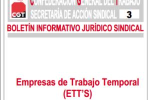 Boletín 3: Empresas de Trabajo Temporal (ETT)
