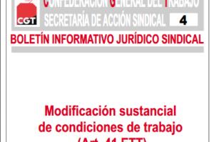 Boletín 4: Modificación sustancial de condiciones de trabajo (Art. 41 ET)