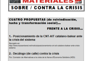 12. Cuatro propuestas (de reivindicación, lucha y transformación social) frente a la crisis
