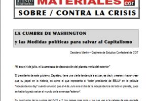 01. La cumbre de Washington y las medidas políticas para salvar el capitalismo