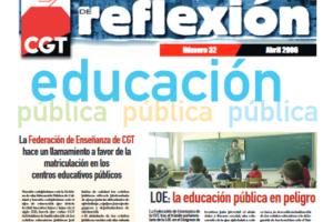 Materiales de Reflexión 32. Educación Pública