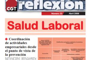 Materiales de Reflexión 33. Salud Laboral