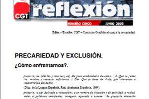 Materiales de Reflexión 05. Precariedad y Exclusión
