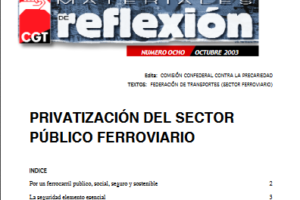 Materiales de Reflexión 08. Privatización del Sector Ferroviario