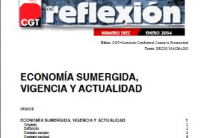 Materiales de Reflexión 10. Economía sumergida