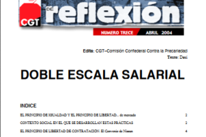 Materiales de Reflexión 13. Doble Escala Salarial