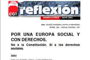Materiales de Reflexión 14. Constitución Europea