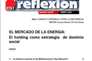 Materiales de Reflexión 20. Industria Energética