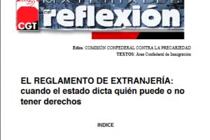 Materiales de Reflexión 21. Reglamento de Extranjería