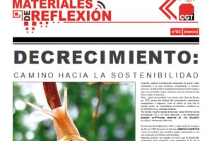 Materiales de Reflexión 63. «Decrecimiento: camino hacia la sostenibilidad»