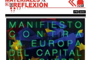 Materiales de Reflexión 66. Manifiesto contra la Europa del capital y la guerra global