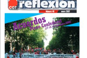 Materiales de Reflexión 40. Acuerdos del Pleno Confederal de noviembre de 2006 (I)