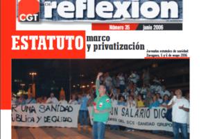 Materiales de Reflexión 35. Sanidad: Estatuto Marco y Privatización