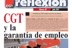 Materiales de Reflexión 46. Acuerdos de CGT sobre garantía de empleo