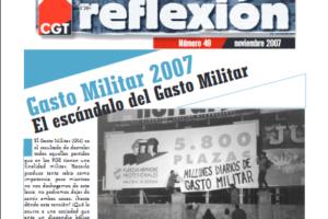 Materiales de Reflexión 49. Gasto Militar 2007