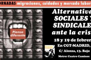 Alternativas sociales y sindicales ante la crisis, febrero 2011
