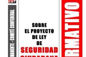 Boletín 147: Sobre el Proyecto de Ley de Seguridad Ciudadana