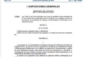 Ley General de la Seguridad Social en relación con el régimen jurídico de las Mutuas de Accidentes de Trabajo y Enfermedades Profesionales de la Seguridad Social