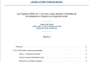 Derechos y libertades de los extranjeros en España y su integración social