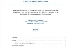 Procedimientos de despido colectivo y de suspensión de contratos y reducción de jornada