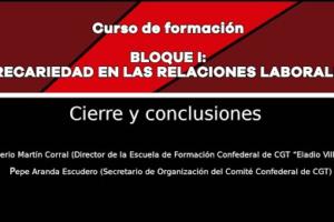 Precariedad en las relaciones laborales: Cierre y conclusiones