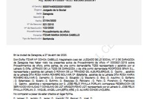 Una magistrada de Zaragoza reconoce la relación laboral de los trabajadores con Deliveroo