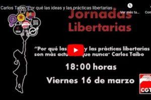 Jornadas Libertarias Zaragoza 2018: Carlos Taibo «Por qué las ideas y las prácticas libertarias son más actuales que nunca»