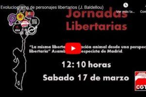Jornadas Libertarias Zaragoza: Evoluciograma de personajes libertarios (J. Baldellou)