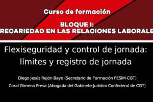 Precariedad en las relaciones laborales: Flexiseguridad y control de jornada: Límites y registro de jornada