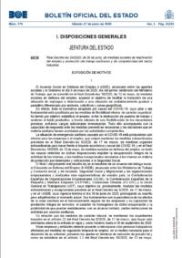 Nueva regulación de los ERTE – Real Decreto-ley 24/2020 del 26 de junio
