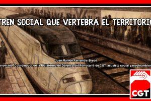 Tren social que vertebra el territorio