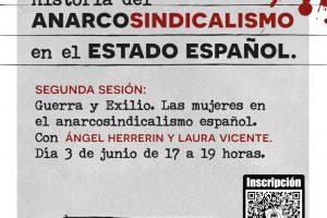 Historia de anarcosindicalismo en el Estado español. 2ª Sesión: Guerra y exilio. Las mujeres en el anarcosindicalismo español
