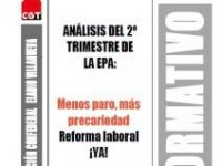 Boletín 170: Análisis del 2º trimestre de la EPA: Menos paro, más precariedad. Reforma laboral ¡Ya!
