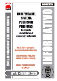 Boletín 171: En defensa del Sistema Público de Pensiones: de reparto, de solidaridad, universal y suficiente